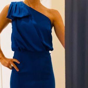 Armani royal blue semi-formal mini dress